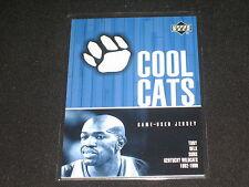 TONY DELK WILDCATS 2002 UPPER DECK COOL CATS CERTIFIED AUTHENTIC NBA JERSEY CARD