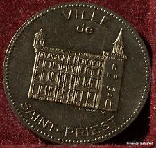ST PRIEST double ECU  EURO  TEMPORAIRE DES VILLES 1995  1082A149