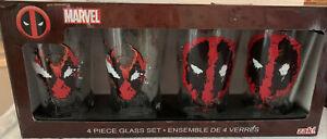 Marvel Deadpool 4 Piece 16 oz Glass Set
