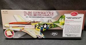GUILLOWS #402 P-51 MUSTANG WWll FIGHTER BALSA FLYING MODEL KIT