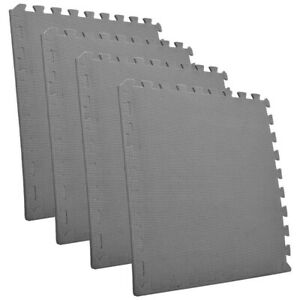 8x60cm EVA Floor Mat Interlocking Soft Thick Foam Yoga Kids Play Tile Rugs Grey
