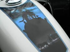 Gas fuel tank decal Harley Sportster & all motorcycles - Haunted Funeral Coach