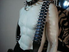 LEATHER BULLET GUITAR STRAP. BUCKLE UP ...(MDLS0294)... HOEST