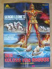 Filmposter * Kinoplakat * A1 * Der Koloss von Rhodos * WA 70er