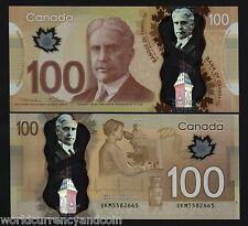 CANADA 100 DOLLAR 2011 POLYMER MACKLEM CARNEY UNC TELESCOPE MEDICINE BOTTLE NOTE