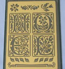 NOEL 95650 Solid Brass Embossing Stencil by Inkadinkado - Free Shipping