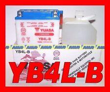 BATTERIA MOTO E SCOOTER YB4L-B YUASA  NUOVA SCOOTER 50cc CON ACIDO INCLUSO