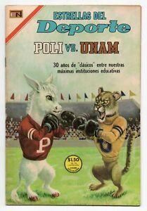 ESTRELLAS del DEPORTE #35 POLI vs UNAM, Novaro Mexican Comic 1967
