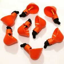 8 Chicken Drinker Cups Automatic Plastic Poultry Waterer Drink Cup water system