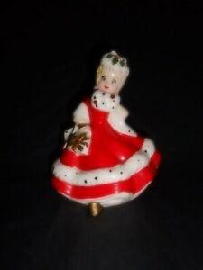 Vintage Kreiss & Co Christmas Shopper Girl Figurine 1950's Japan