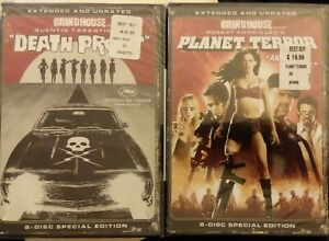 2x DVD SET- Grindhouse Presents: Planet Terror & Death Proof *Extended & Unrated
