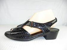 SAS Suntimer Womens sz 10 N Black Croc Print Leather Tripad Comfort Sandals