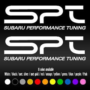 "8"" Subaru Performance Tuning SPT WRX STI Forester Legacy Vinyl Decal sticker"