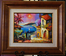 "ALEX GRINSHPUN ORIGINAL ON CANVAS!! ""SUNSET II"" BEAUTIFUL! SIGNED, FRAMED, COA"