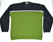 Obermeyer Sweater Long Sleeve Black Green Mens Large L Crew Neck Winter Wear