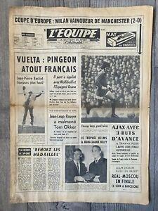 1969 EC SEMI FINAL AC Milan v Manchester United (L'Equipe)+ Slovan v Dunfermline