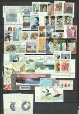 Iceland 1982 - 2010 Page of MNH Sets, Singles CV $95.60