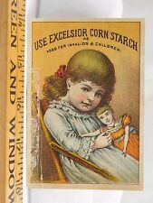 Excelsior Corn Starch & Food For Invalids & Children Cute Girl & Doll F38