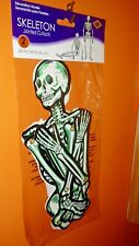 """Beistle 22"""" DIECUTS Skeletons 2 Halloween Decorations Jointed CUTOUTS PACKAGED"""