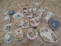 FINE SELECTION OF SMALL NAMED 1st QUALITY CHINA ITEMS - VASES,TRINKET BOXES,
