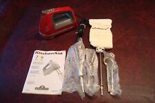 KitchenAid Digital hand mixer 9 Speed KHM920 Red Dough hooks Wire Whisk Rod Bag