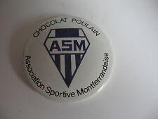 BADGE 50's CHOCOLAT POULAIN *A.S.M ASSOCIATION SPORTIVE MONTFERRANDAISE* (RUGBY)