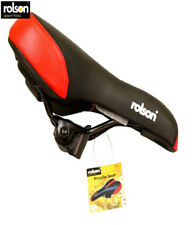 Rolson 43200 Spare Bicycle Seat 260 X 145mm Leather Type Cycling Saddle Black