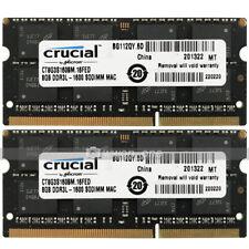 Crucial 16GB 2x8GB PC3L-12800 DDR3L-1600MHz Memory for Mac mini Late 2014 A1347