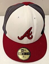 NEW ERA 5950 59FIFTY Fitted Cap Atlanta Braves Washed Denim hat SIZE 7 1/8 NEW