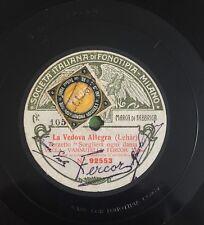 """RARE 78 RPM 11"""" FONOTIPIA VECLA VANNUTELLI FERCOR LA VEDOVA ALLEGRA/SOGNO DI UN"""