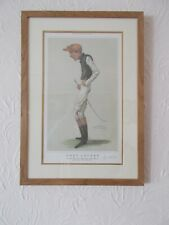 More details for fred archer. a limited edition print by spy. oak framed free postage