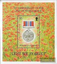 Salomon Islands Block42 mint never hinged mnh 1995 End Second War