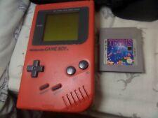 Nintendo GameBoy Original Handheld Console Red Game Boy Hand Held