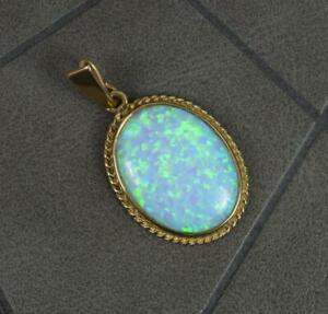 Impressive Opal Composite and 9 Carat Gold Pendant