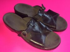 Women's Size 9M 9 41 71856 Black Clarks Open Toe Sandals Slides Mule Slip On