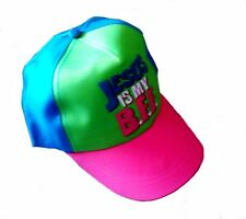 Baseball cap kid's child lightweight Jesus is my BFF pink blue green adjustable