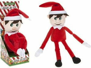 """12"""" Adopt An Elf Super Soft Teddy with Adoption Certificate Christmas Gift"""