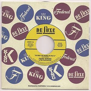 """R&B  7"""" 45 FRANK HOWARD & THE CONTINENTALS DO WHAT YOU WANNA DO US DE LUXE REISS"""