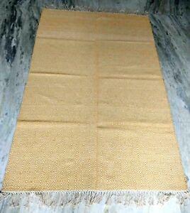 Hand Woven Cotton Area Rug Indian Modern Medium Dhurrie 4x6 Feet CPR2025