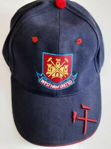 West Ham Football Club Navy Baseball Cap Hat Fan  Crest, new, embroidered