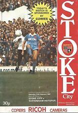 Football Programme - Stoke City v Tottenham Hotspur - Div 1 - 27/2/1982