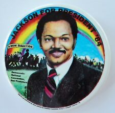 Jesse Jackson For President 1984 Rainbow Pin Button Pinback San Francisco 2.25""