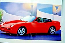 1992 porsche 968  owners sales brochure original new