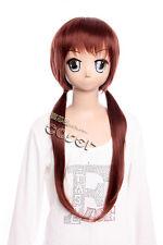 W-314 Neon Genesis Evangelion MARI MAKINAMI Cosplay Parrucca Wig Marrone Brown 68cm