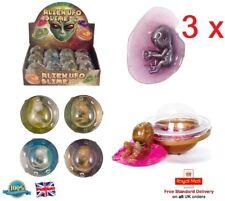 3 x UFO SLIME Boys Girls Slime Gift Toy Stocking Filler Baby Alien Slime Putty
