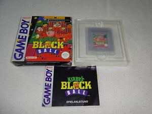 Kirby`s Block Ball Game Boy Spiel komplett mit OVP und Anleitung