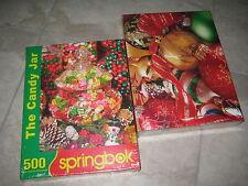2 NIB SPRINGBOK Christmas X-Mas themed Jigsaw puzzles 500 pieces 2007 2014 NEW