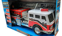 Large Friction Fire Engine With Ladders  Motorized Truck With LIghts And Sounds
