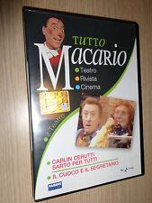 DVD TUTTO MACARIO CARLIN CERUTTI SARTO PER TUTTI IL CUOCO E IL SEGRETARIO TEATRO