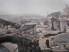 MINERVE les bords de la CESSE  PHOTOGRAVURE  la FRANCE de l' EST C.GILLOT 1902